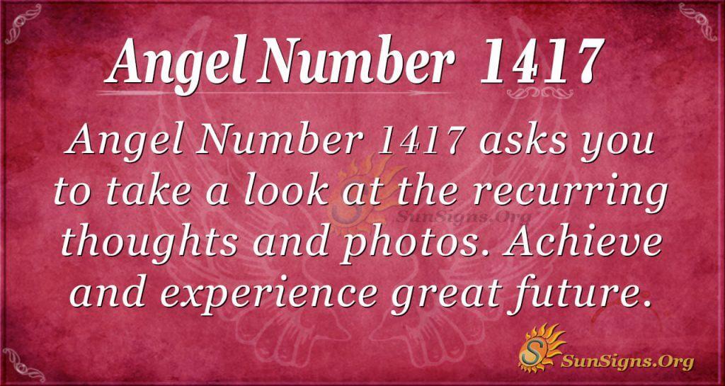 Angel Number 1417