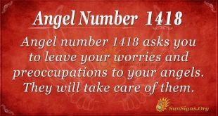 Angel Numer 1418