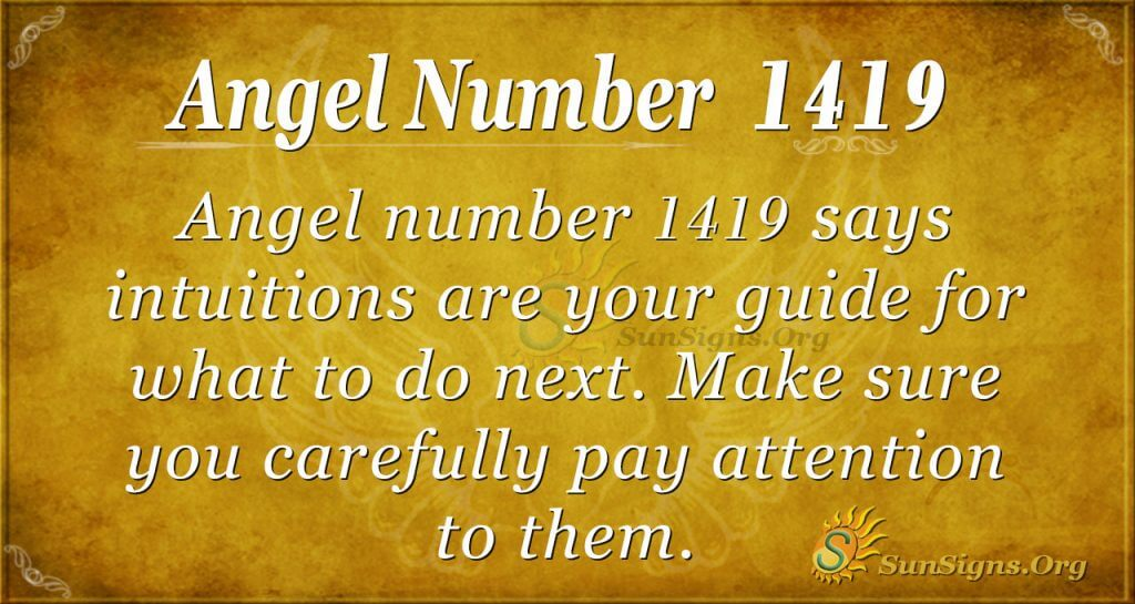 Angel number 1419