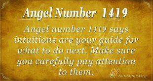 Angel number 1419