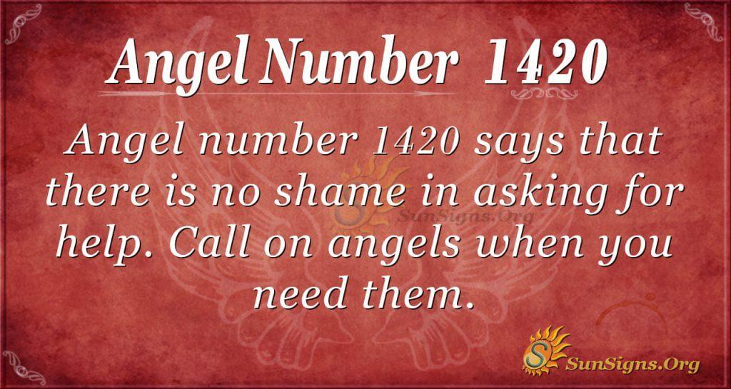 Angel number 1420