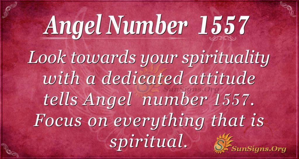 Angel Number 1557