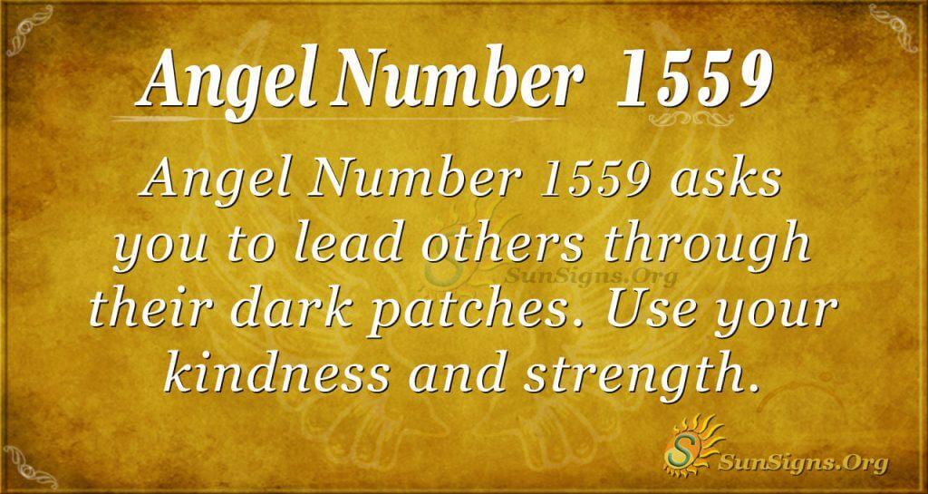 Angel Number 1559