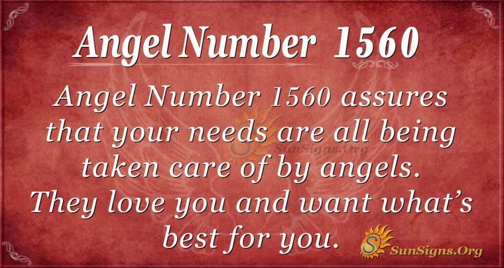 Angel Number1560