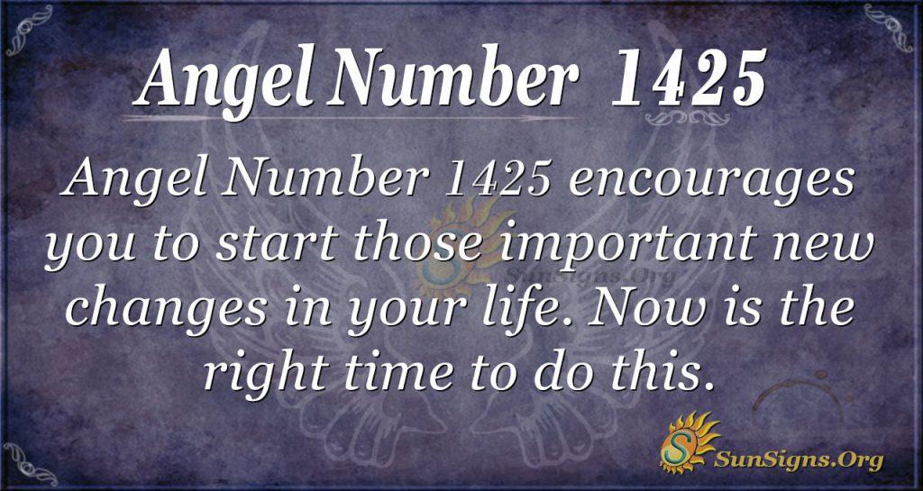 Angel Number 1425