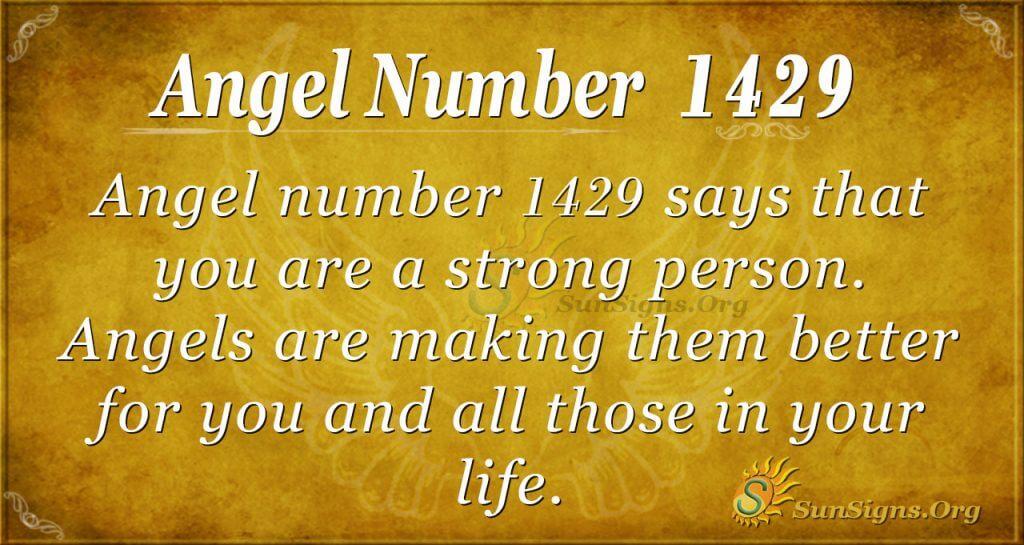 Angel Number 1429
