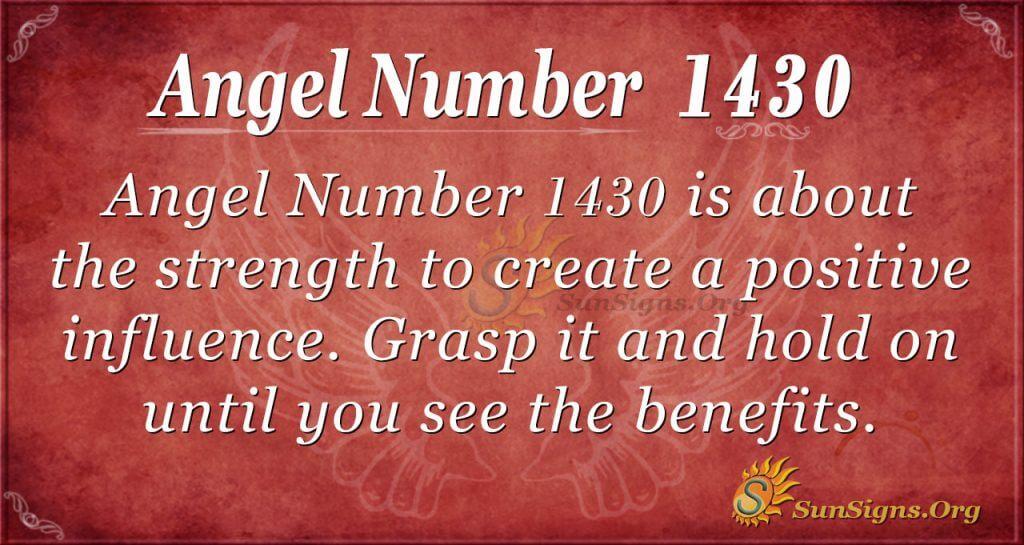 Angel Number 1430