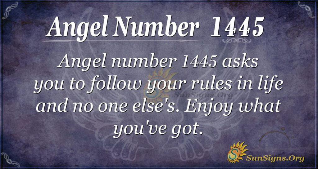 Angel Number 1445