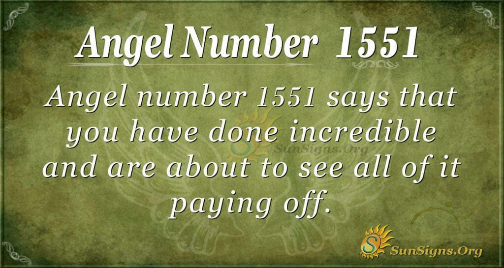 Angel Number 1551