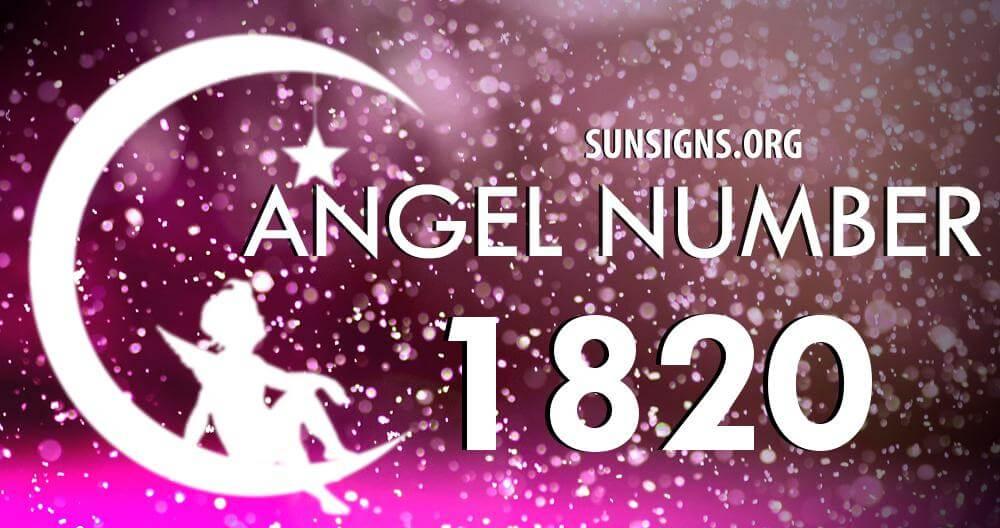 angel number 1820