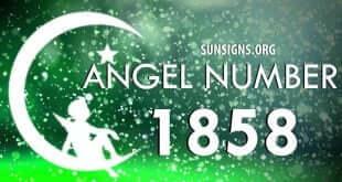 angel number 1858
