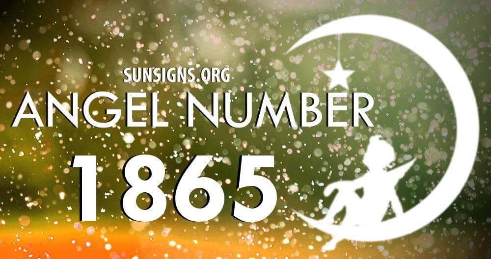 angel number 1865