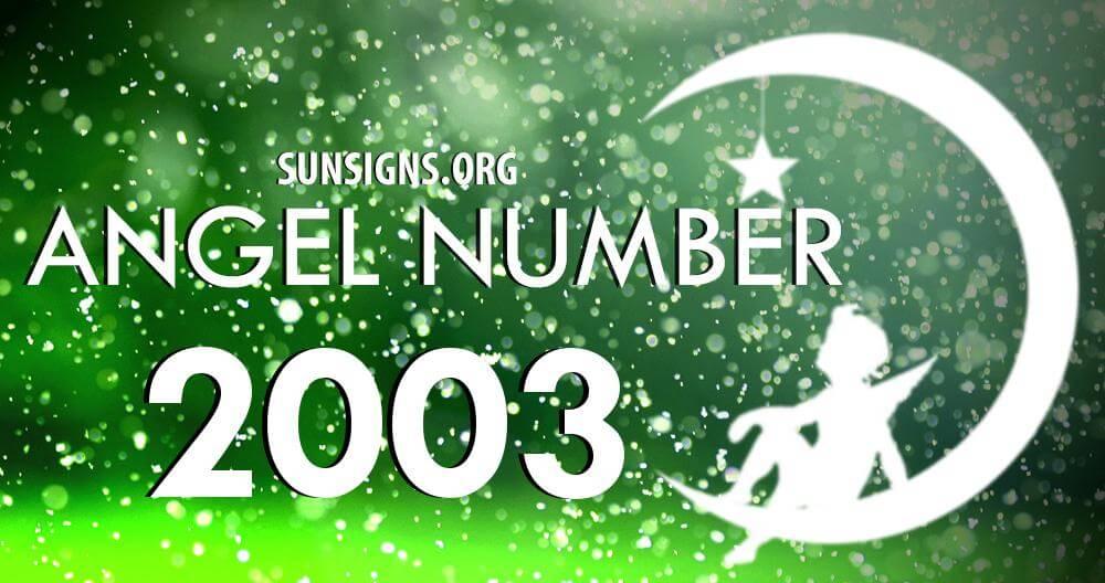 angel number 2003