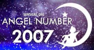 angel number 2007