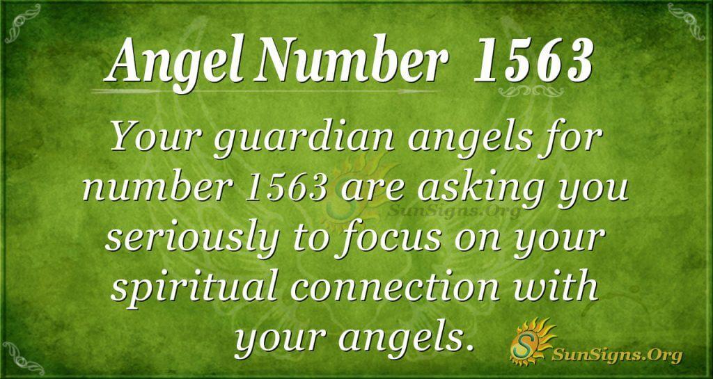 Angel Number 1563