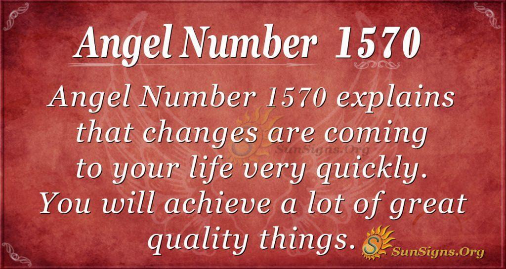 Angel Number 1570