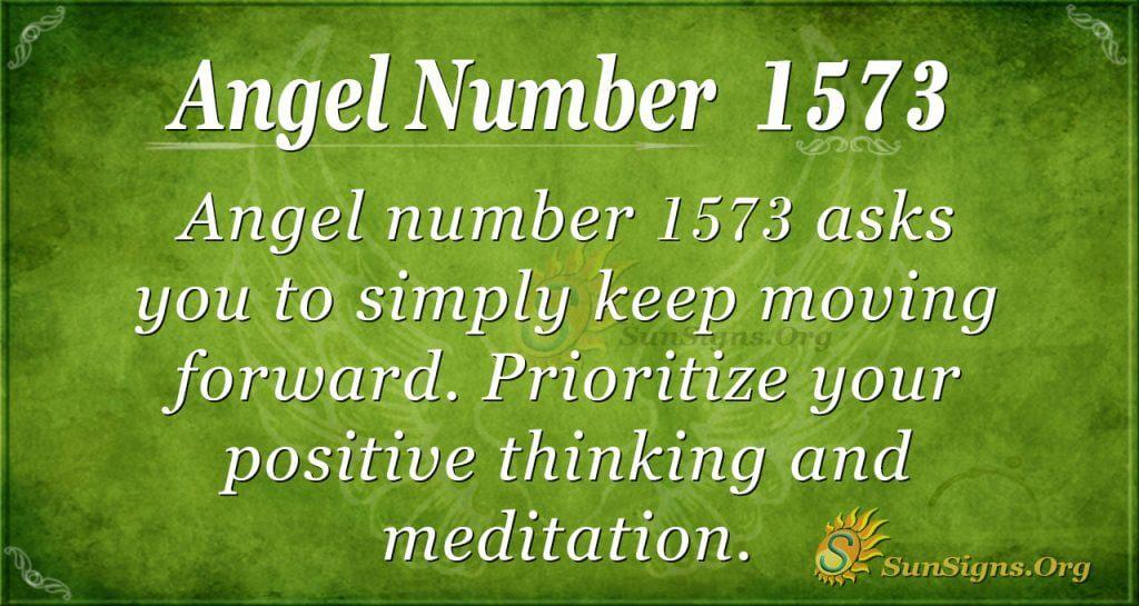 Angel Number 1573