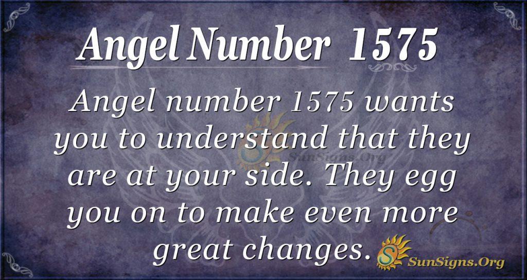 Angel Number 1575
