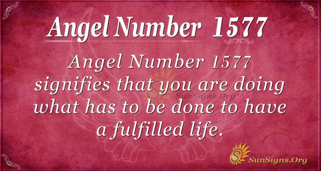 Angel number 1577