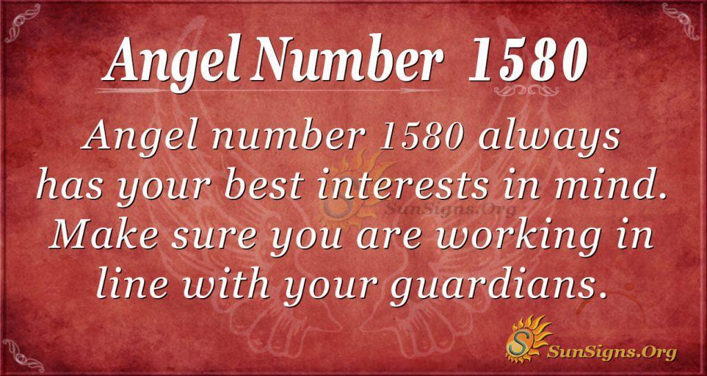 Angel Number 1580