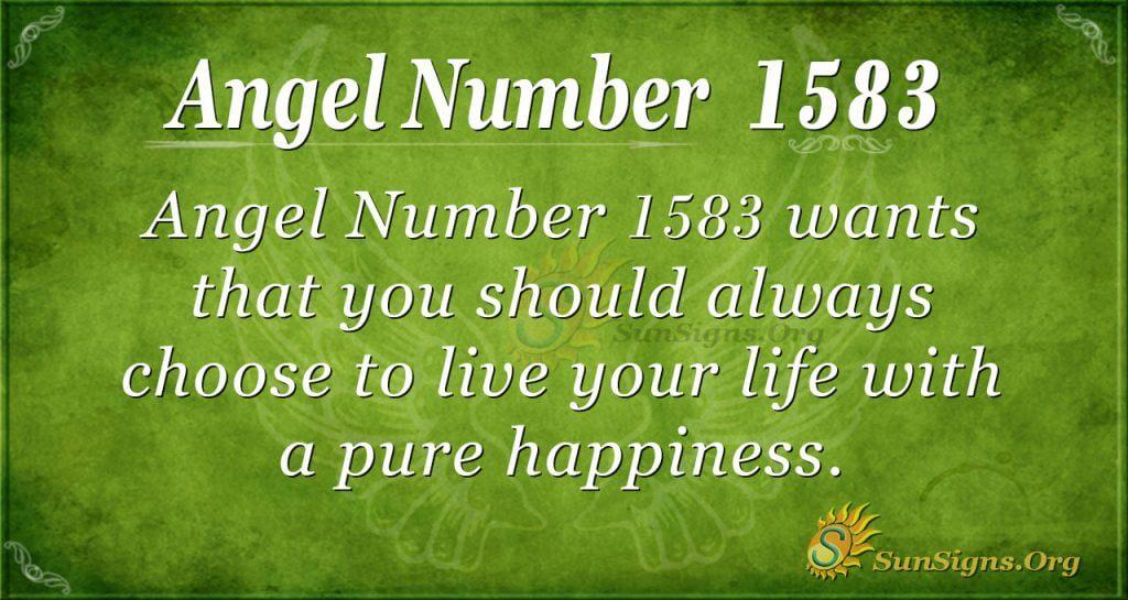 Angel Number 1583