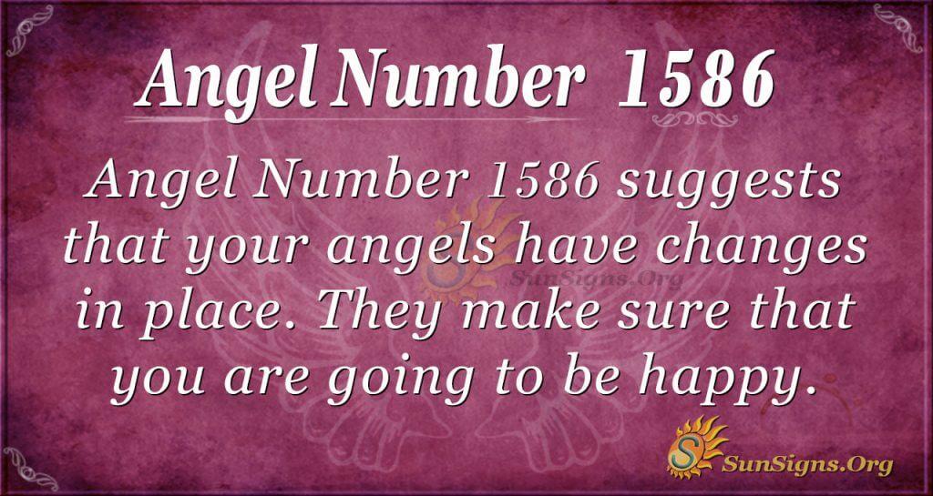 Angel Number 1586