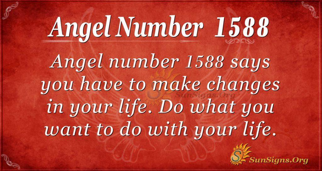 Ange Number 1588