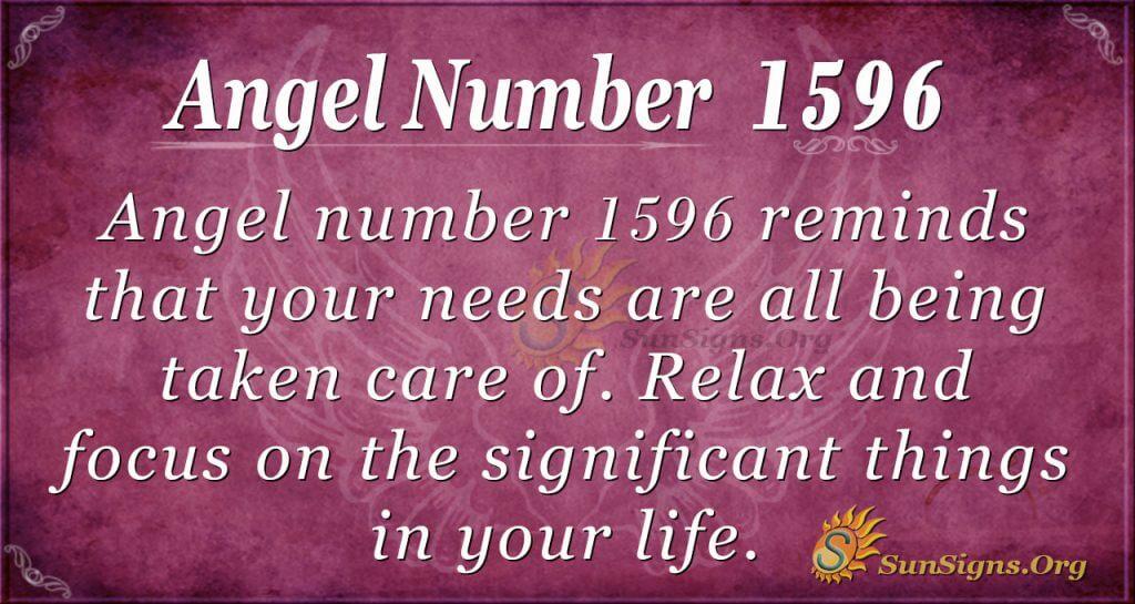 Angel Number 1596