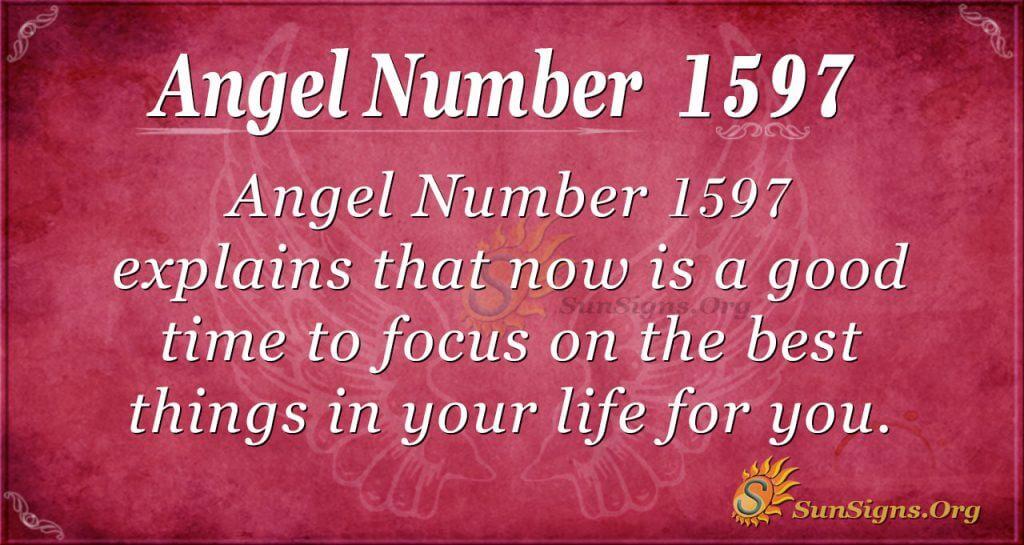 Angel Number 1597