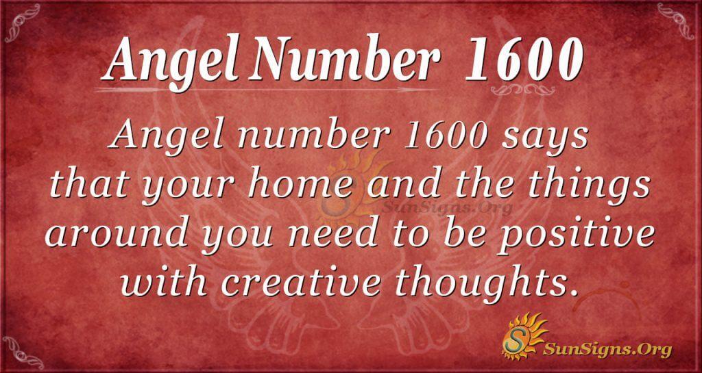 Angel Number 1600