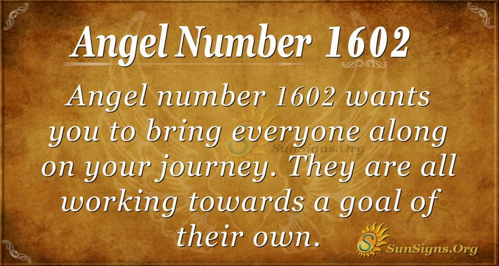 Angel Number 1602