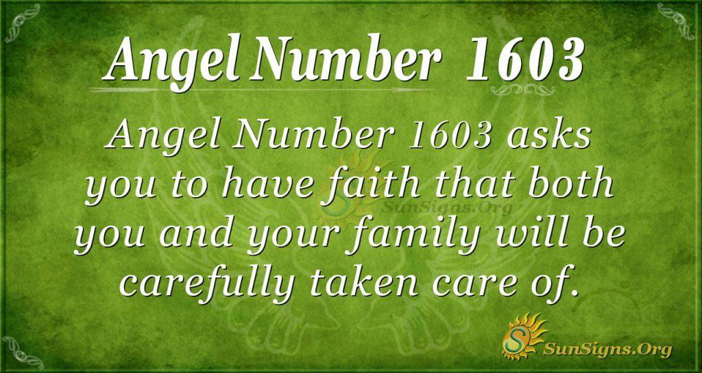Angel Number 1603