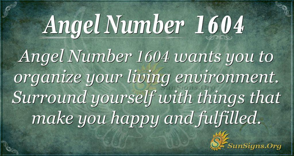 Ange Number 1604