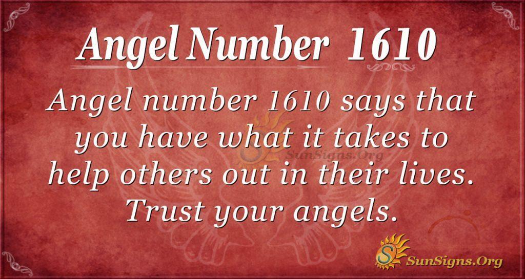 Angel Number 1610