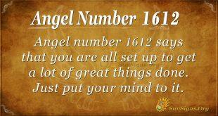 Angel Number 1612