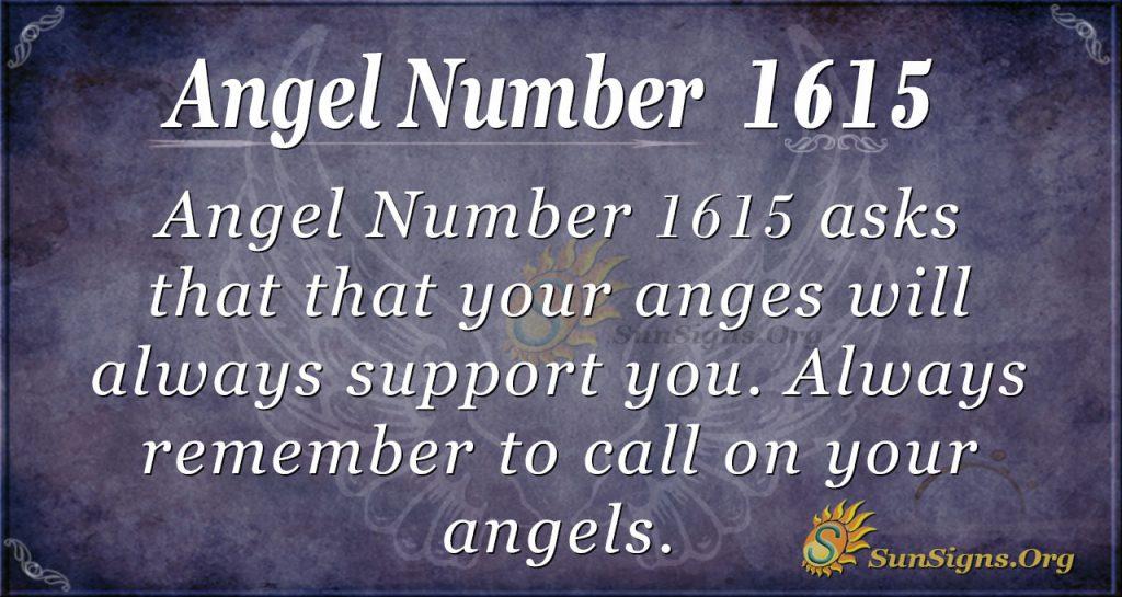 Angel Number 1615