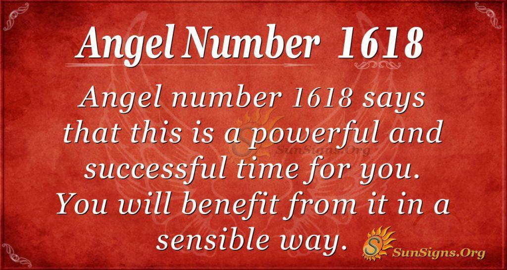 Angel Number 1618