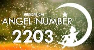 angel number 2203