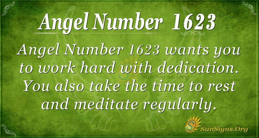 Angel Number 1623