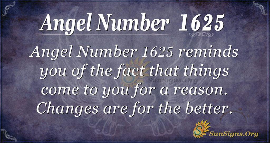 Angel Number 1625