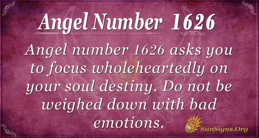 Angel Number 1626