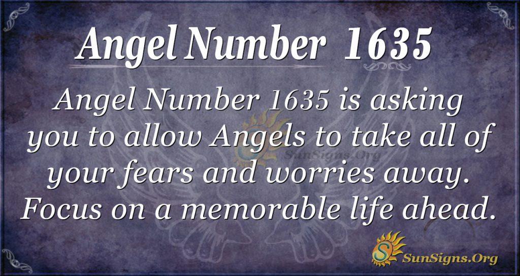 Angel Nuumber 1635