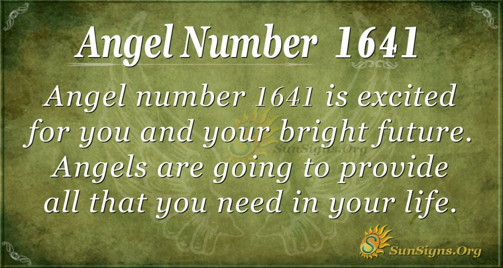 Angel number 1641
