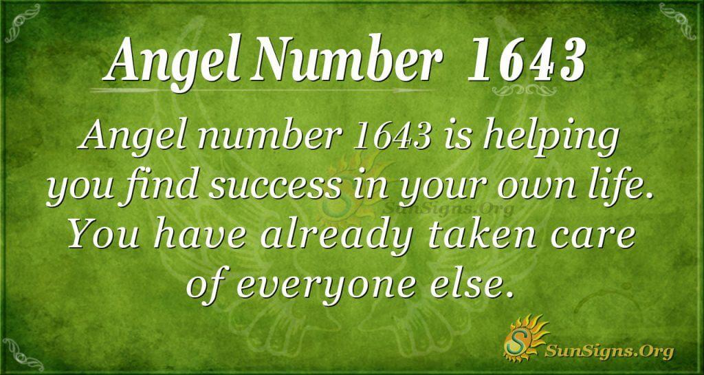Angel Number 1643