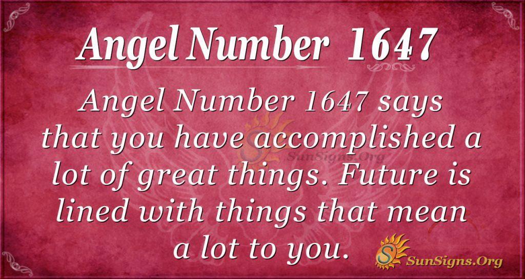 Angel Number 1647