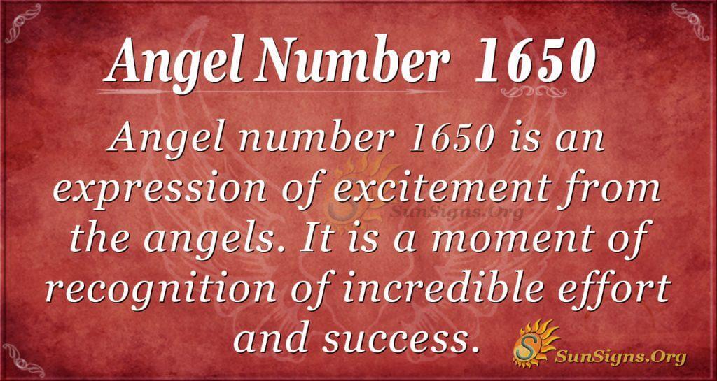 Angel Number 1650