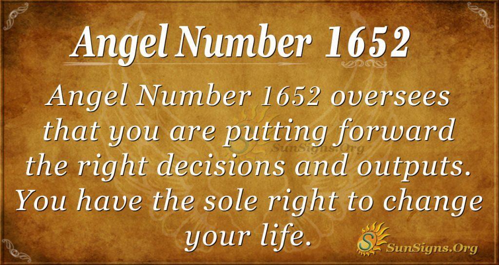 Angel Number 1652