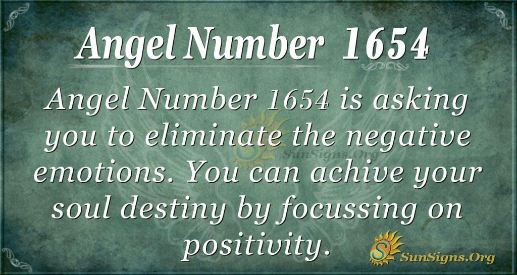 Angel Number 1654