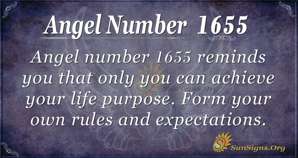 Angel number 1655