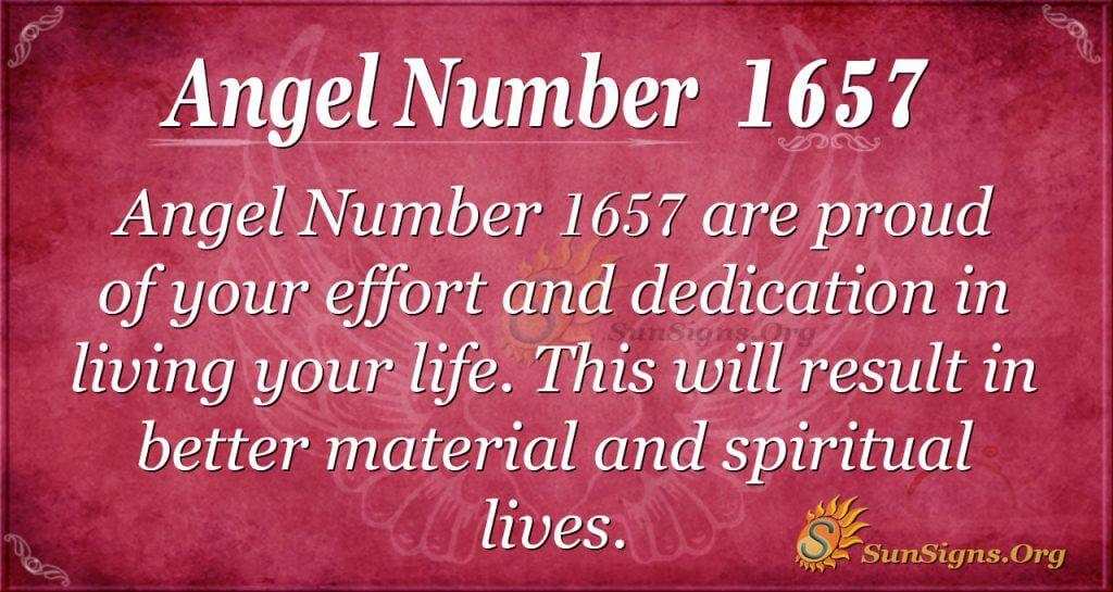 Angel Number 1657